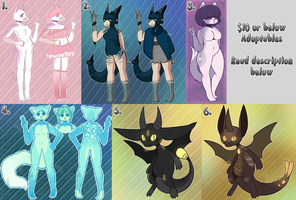 [OPEN] Adoptables by MiqotesosAdopts