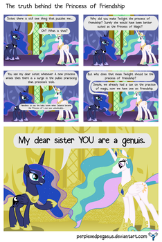 The truth behind the Princess of Friendship by PerplexedPegasus