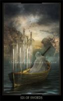 Six of Swords by ThelemaDreamsArt
