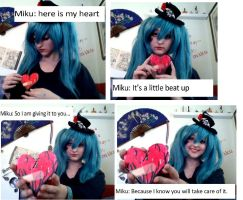 Vocaloid- I give you my heart by CosplayQueendom