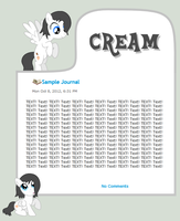 Commission - Cream Journal by CassidyCreations