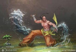BUSHIDO - Water Monk by dinmoney