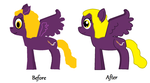 Splutter Brush: Before, After. by ccontyanya