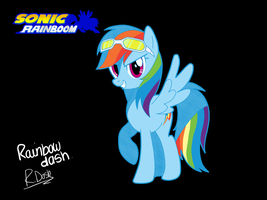 Sonic Rainboom-Rainbow Dash by familyof6