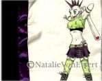 Punk Girl Knitting Case by natamon