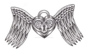 locket with wings tattoo by expedient-demise