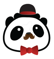 Winston - Panda with a Bowler by Panduhmonium