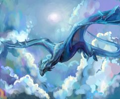 Blue blue sky by NibiNoylin
