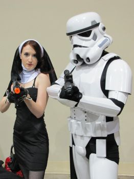 Saint Costume with Storm Trooper by DeviousTinky