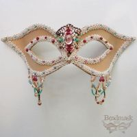 Beaded Leather Mask by Beadmask