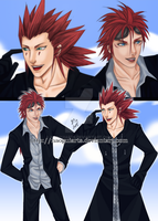 Reno and Axel by naoguiarts