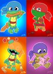 Toddler Mutant Ninja Turtles by kevinbolk