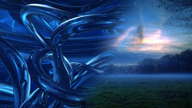 Dark Blue Abstracts and Silence HD by jhonnythebravo123