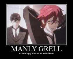 Manly Grell by BlackRoseMii