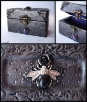 :.OOAK Beetle trinket box.: by XPantherArtX