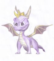 Spyro the Dragon Drawing by Narniakid