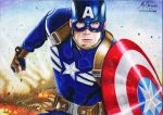 CAPTAIN AMERICA, Chris Evans - Polychromos by alemarques21