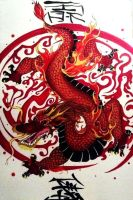 Dragon Painting by Rayne1905