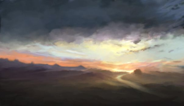 Epic Sky Sketch Color by SCOTTERIGSBY