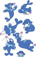 Popplio doodles by purplethinks