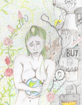 Mother Earth weeps by MOxC