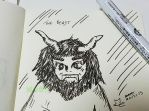 A doodle a day - The Beast by Merc007