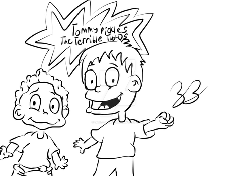 Tommy Pickles: The Terrible Twos - Tommy and Dil by Noizy-Bunny