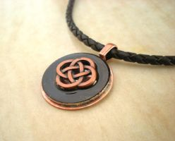 Black and Copper Celtic Knot by rowan300