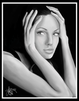 Portrait of Angelina Jolie by bratchny