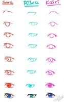 [TUTORIAL!] Kingdom Hearts Style - Eyes by HakuMizuki