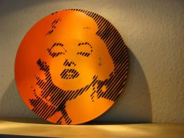 Marylin Monroe on vinyl. by el-Barto-Stencils