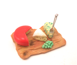 Miniature dollhouse, plate with cheese and grapes by MiniSweetx