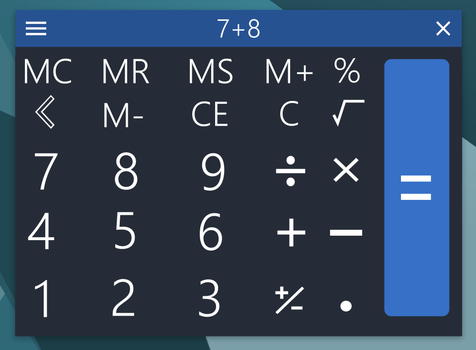 Calculator application mockup by powerup1163