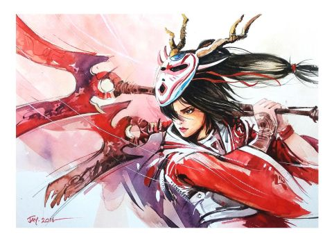 League of legends - Bloodmoon Akali by Abstractmusiq