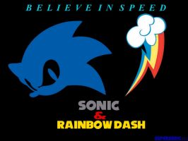 Sonic and Rainbow Dash Wallpaper Picture by supersonic331