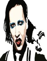 Marilyn Manson  No Pen work 3 by daylover1313
