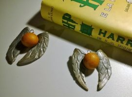 Golden snitch (Polymer clay) by HeeLash