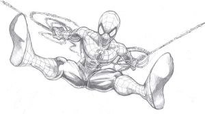 Spidey Original Sketch by Bellyfluff