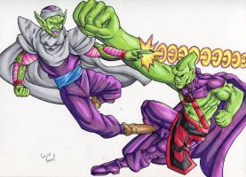 Piccolo Vs Martian Manhunter by ibroussardart