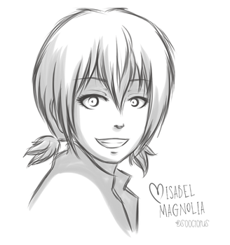 Isabel Magnolia doodle by sooctopus