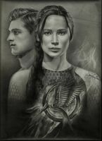 The Hunger Games Star-crossed lovers by JAF-Artwork