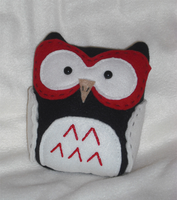 Owl Pillow Plush in Red by SarahRuthless