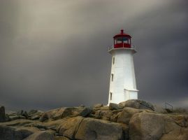 Peggys Cove Lighthouse - Spring Storm by ShawnaMac