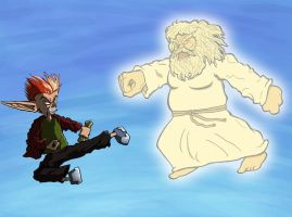 Angry vs God Round 1 by ReallyAngry