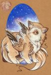 Twinkle the owlet gryph by Idlewings