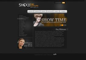 Showtime Web interface Carbon by Servetinci