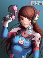 Overwatch D.Va Fan Art by alvinmomo123
