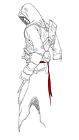 Altair Inking - WIP 2 by Indiana8Jones
