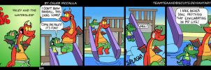 Riley and the Waterslide by GatorArt27