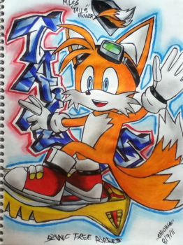 Tails_Sonic Free Riders by emichaca
